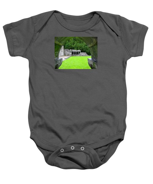 Arched View Of Cong Abbey Baby Onesie