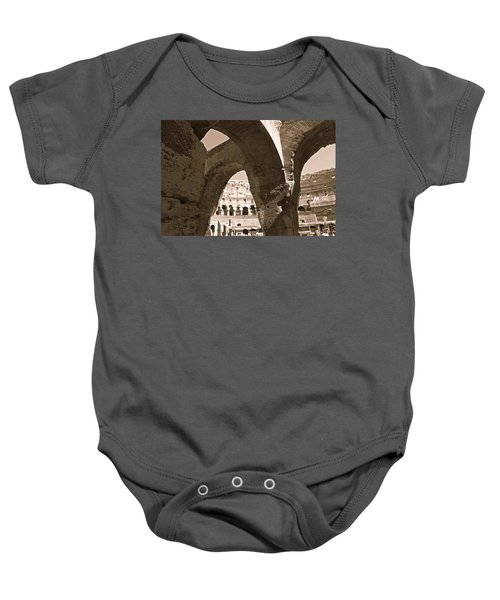 Arches In The Colosseum Baby Onesie