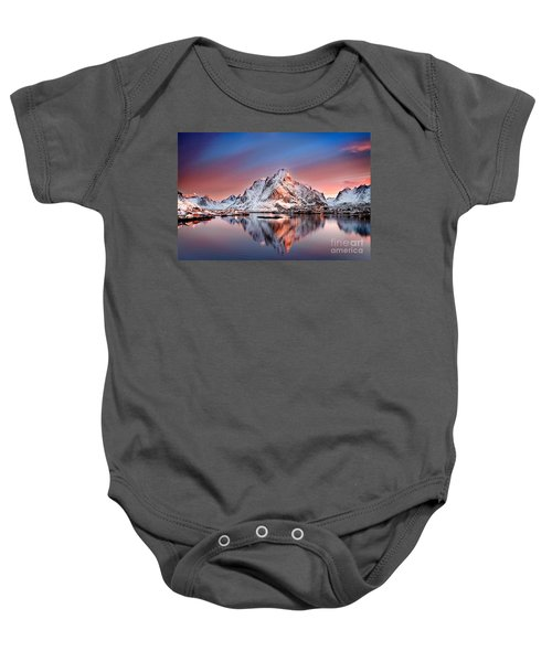 Arctic Dawn Over Reine Village Baby Onesie