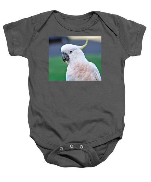 Australian Birds - Cockatoo Baby Onesie by Kaye Menner
