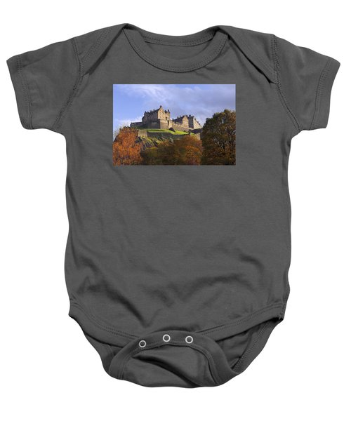 Autumn At Edinburgh Castle Baby Onesie