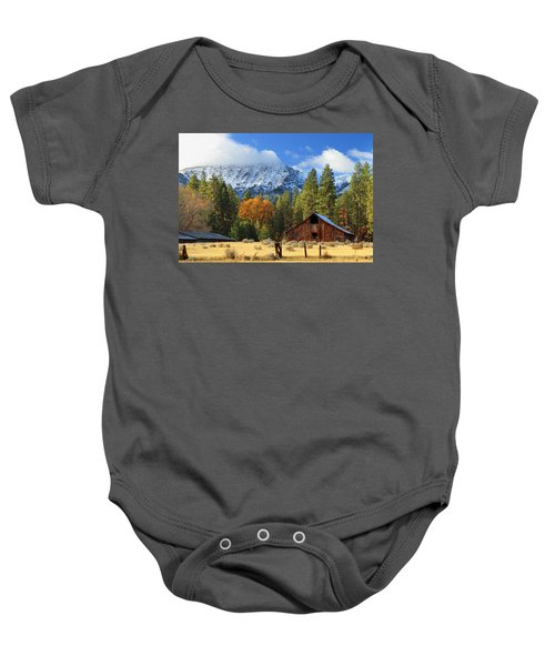Autumn Barn At Thompson Peak Baby Onesie
