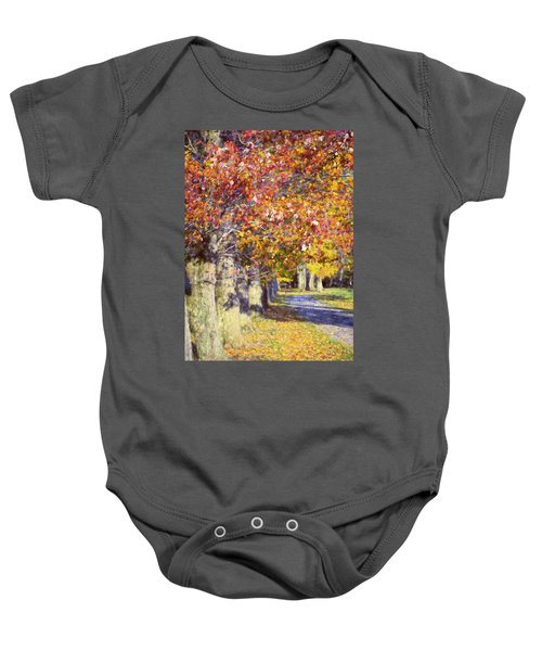 Autumn In Hyde Park Baby Onesie by Joan Carroll