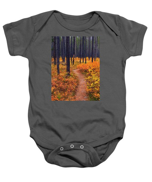 Autumn In Yellowstone Baby Onesie