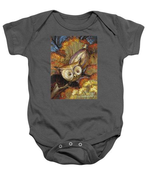 Autumn Owl Baby Onesie