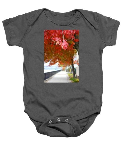 Autumn Sidewalk Baby Onesie