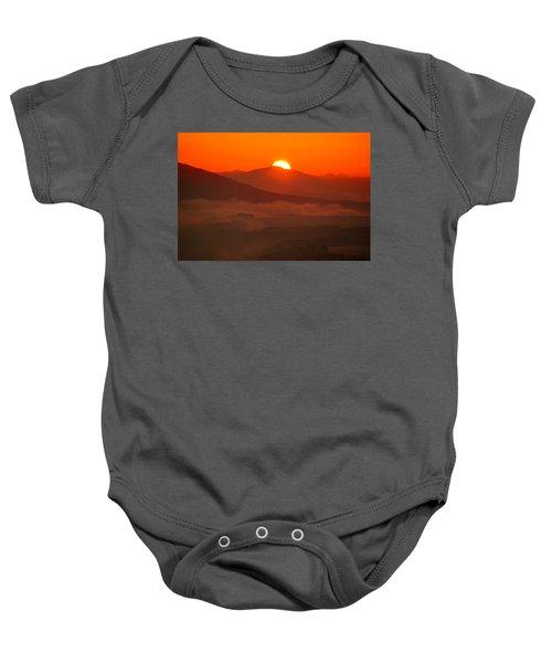 Autumn Sunrise On The Lilienstein Baby Onesie