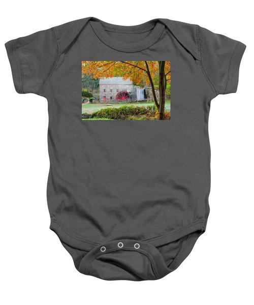 Auutmn At The Grist Mill Baby Onesie