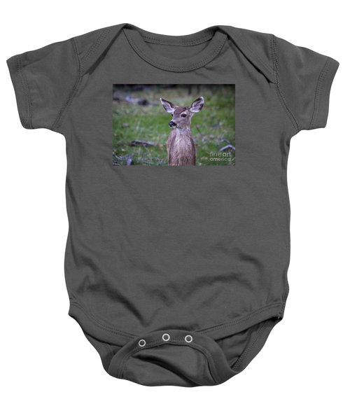 Baby Onesie featuring the photograph Baby Deer by Vincent Bonafede