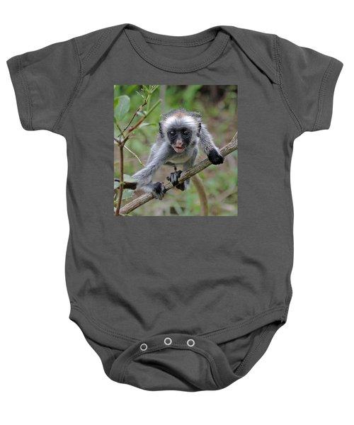 Baby Red Colobus Monkey Baby Onesie
