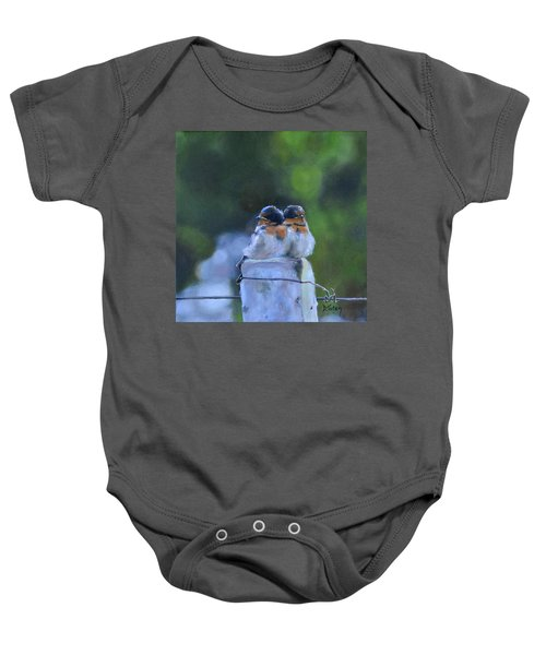 Baby Swallows On Post Baby Onesie