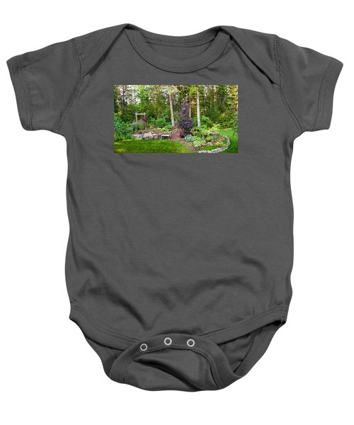 Backyard Garden In Loon Lake, Spokane Baby Onesie