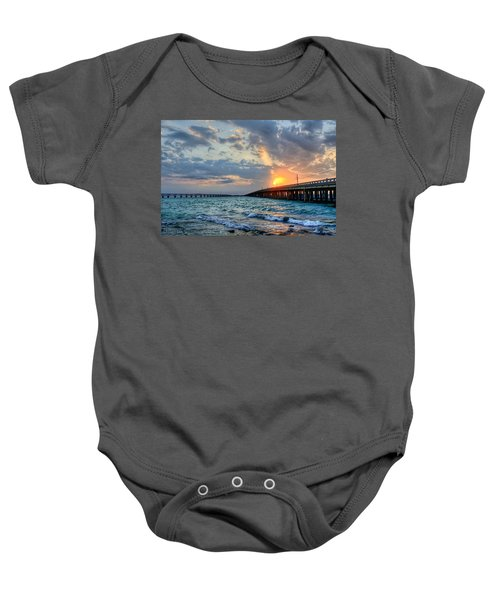 Bahia Honda Sunset Baby Onesie