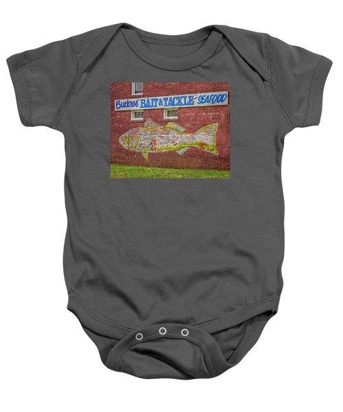 Bait Tackle Seafood Shop Detail Baby Onesie