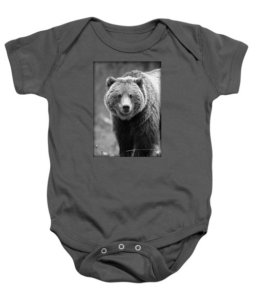 Banff Grizzly In Black And White Baby Onesie