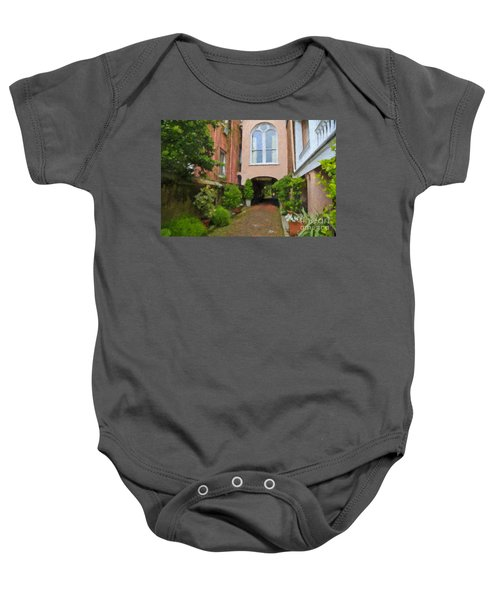 Battery Carriage House Inn Alley Baby Onesie