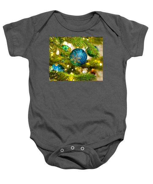 Bauble In A Christmas Tree  Baby Onesie