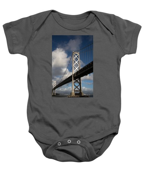 Bay Bridge After The Storm Baby Onesie