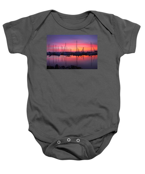 Bayfield Wisconsin Magical Morning Sunrise Baby Onesie