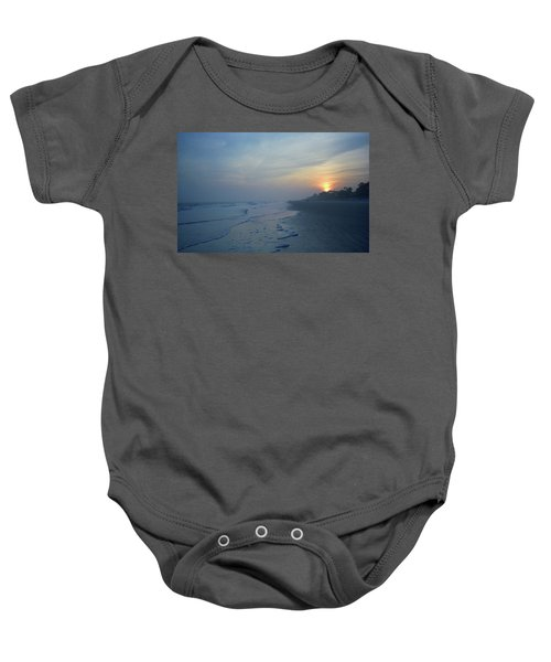 Baby Onesie featuring the photograph Beach And Sunset by Frank Romeo