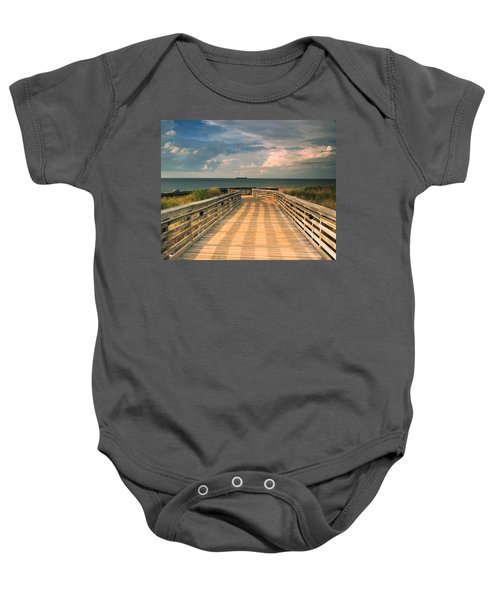 Beach Walk Baby Onesie
