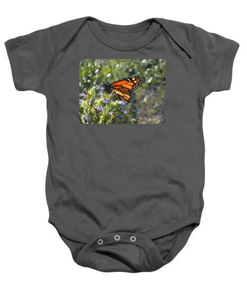 Bee And Monarch  Baby Onesie