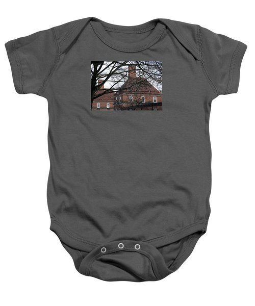 The British Ambassador's Residence Behind Trees Baby Onesie by Cora Wandel