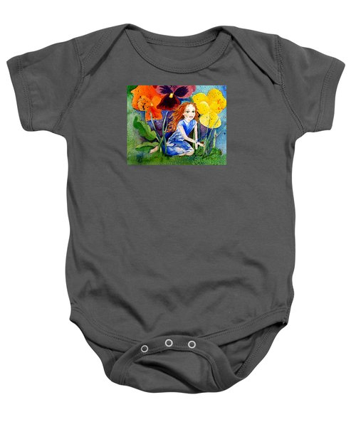 Tiny Flower Fairy Baby Onesie