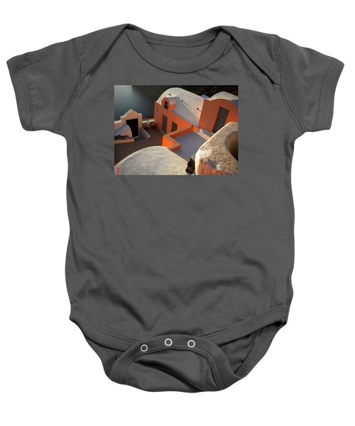 Baby Onesie featuring the photograph Bella Santorini Hause by Colette V Hera  Guggenheim