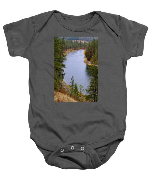 Bend In The River Baby Onesie