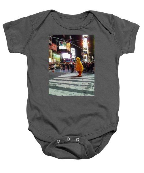 Big Bird On Times Square Baby Onesie