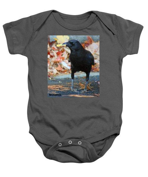 Big Daddy Crow Leaf Picker Baby Onesie