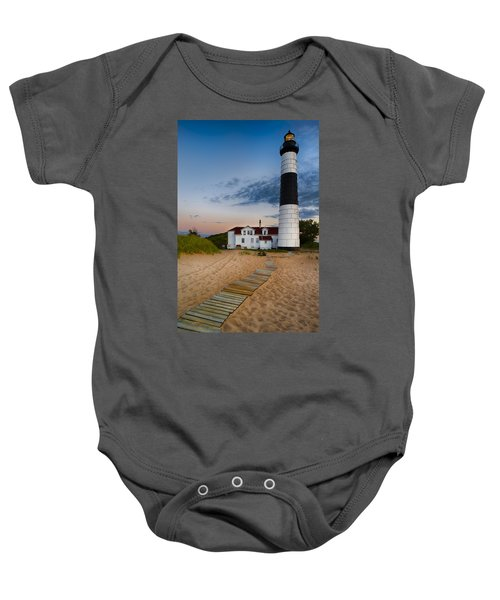 Big Sable Point Lighthouse Baby Onesie