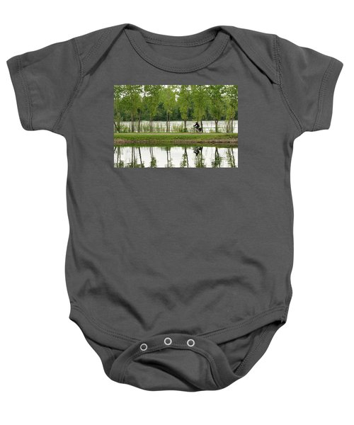 Bike Path Baby Onesie