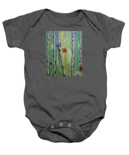 Birch - Lt. Green 5 Baby Onesie