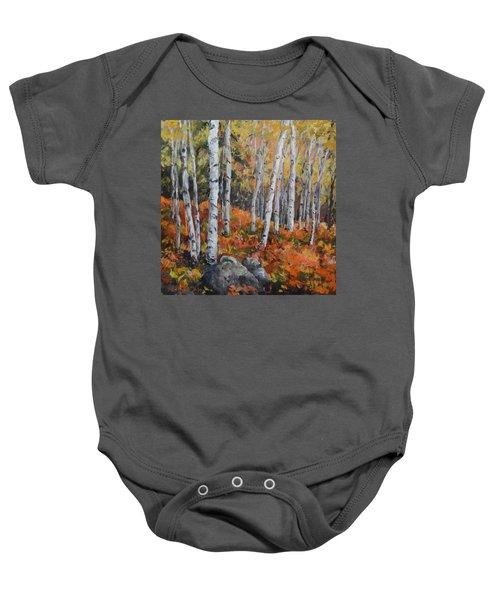 Birch Trees Baby Onesie