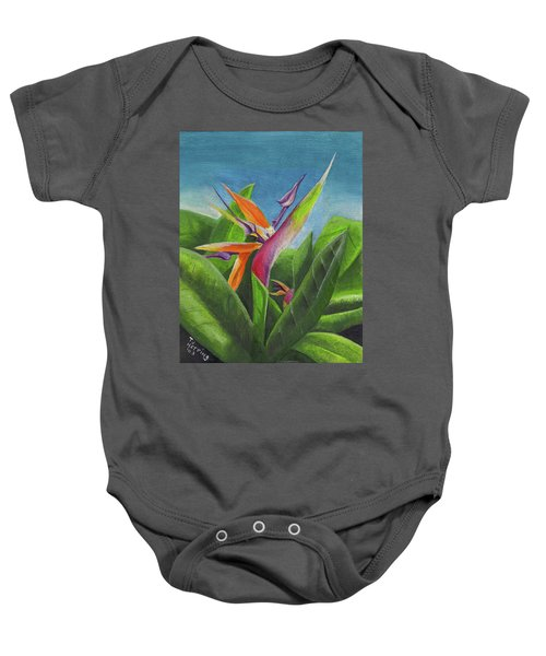 Hawaiian Bird Of Paradise Baby Onesie