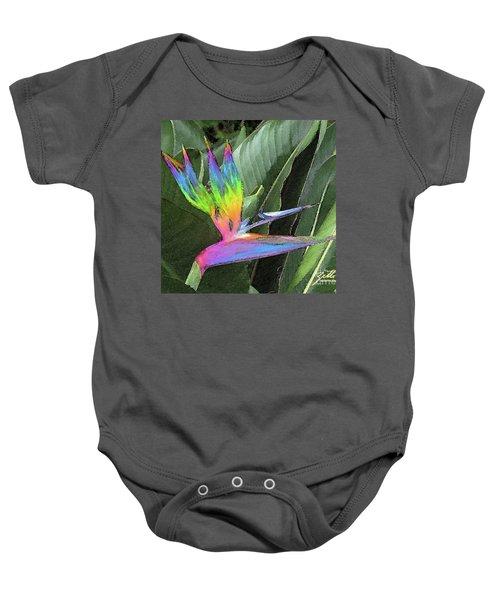 Bird Ow  Paradise Baby Onesie
