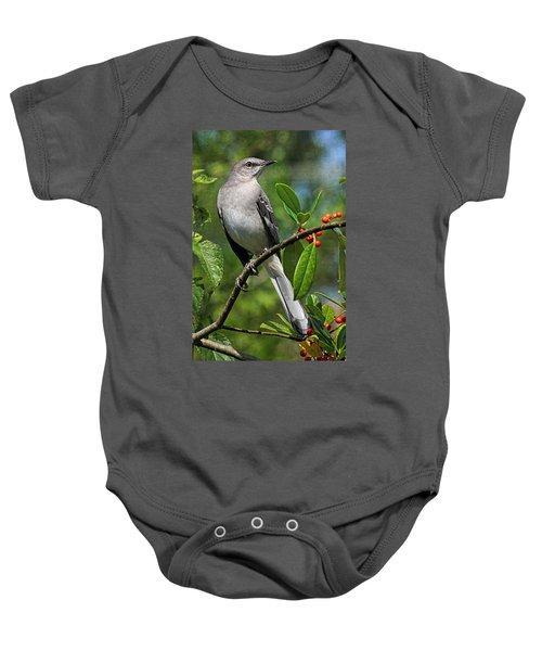 Birds - Northern Mockingbird Baby Onesie