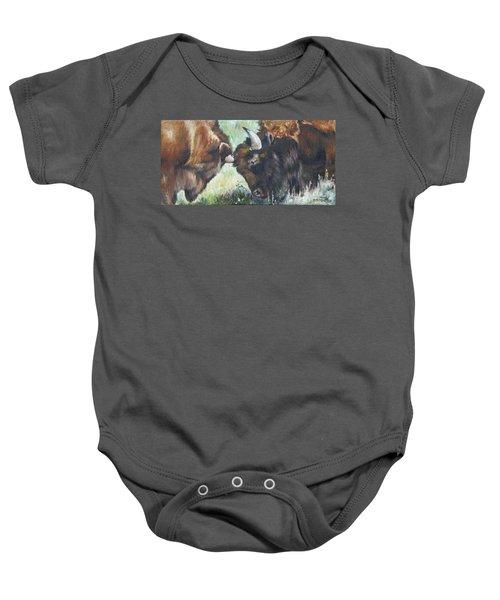 Bison Brawl Baby Onesie
