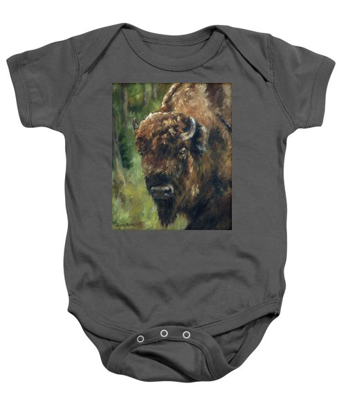Bison Study - Zero Three Baby Onesie