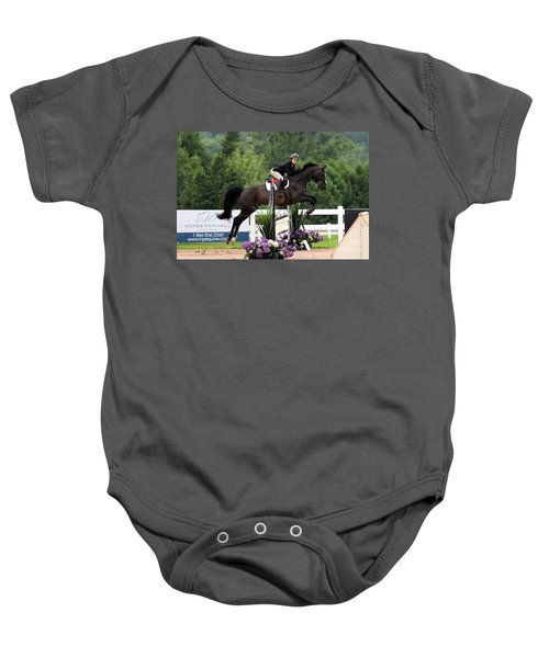 Black And Purple Baby Onesie