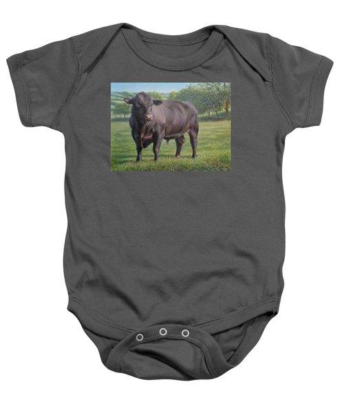 Black Angus Bull 2 Baby Onesie