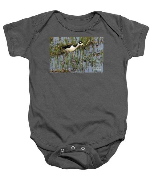Black-necked Stilt Baby Onesie