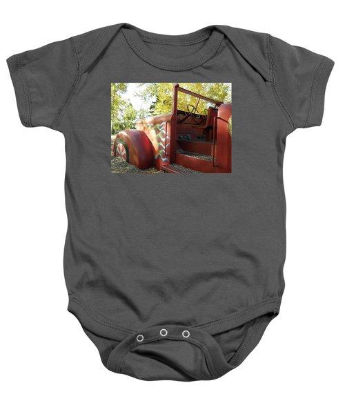 Blazing Red Fire Truck Baby Onesie