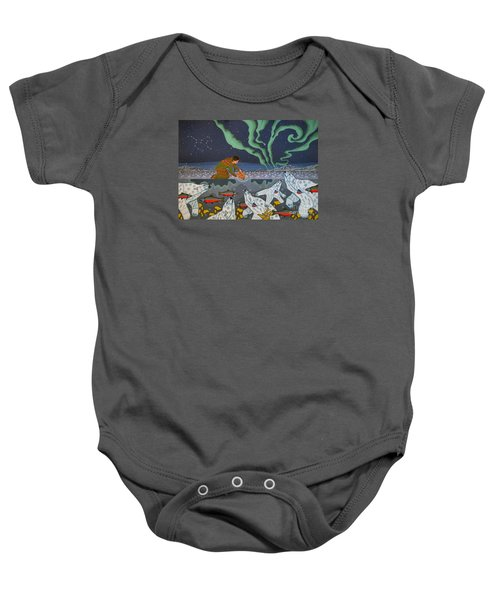 Baby Onesie featuring the painting Blessing Of The Polar Bears by Chholing Taha