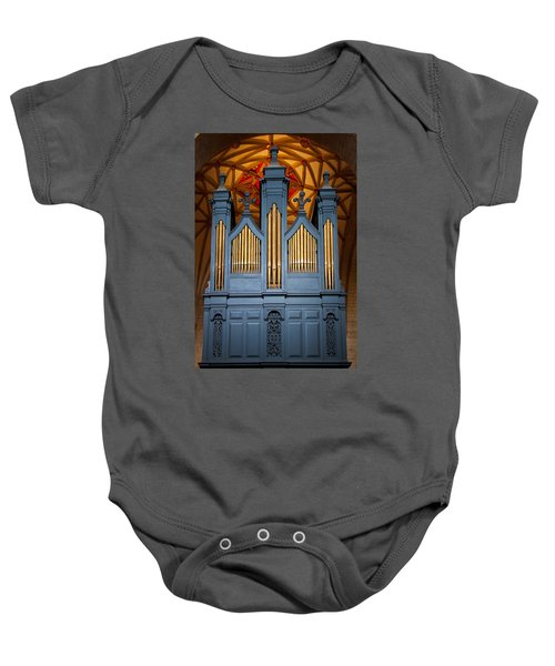 Blue And Gold Music Baby Onesie