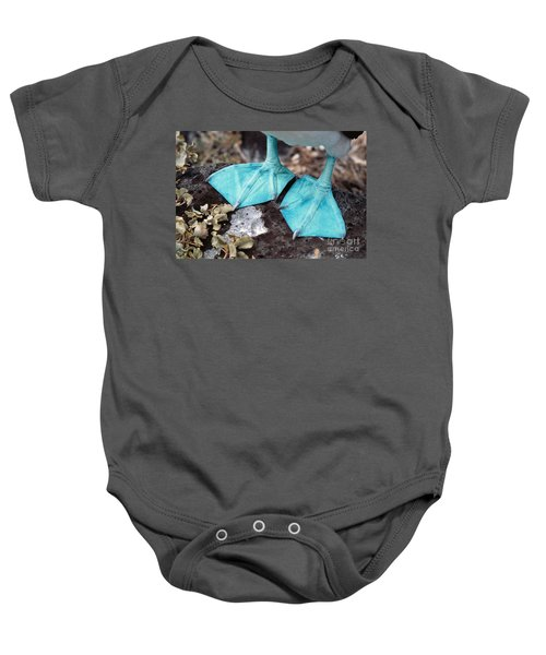 Blue-footed Booby Feet Baby Onesie by Ron Sanford