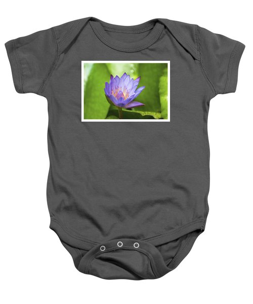 Blue Lotus Baby Onesie