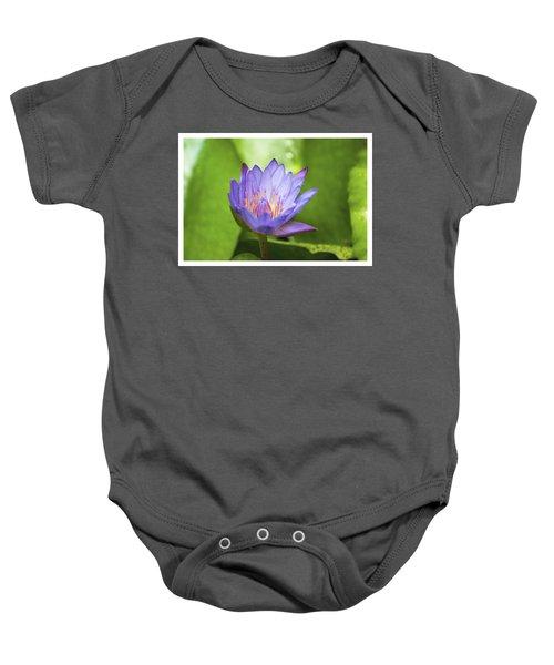 Blue Lotus Baby Onesie